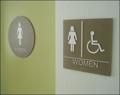 Ada Bathroom Signage la signs & banners - multi-tenant signs - ada braille restroom signs